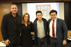 With Rob Shehadie, Helen Kapalos and Benjamin Law at the Media and Diversity Rights Talk