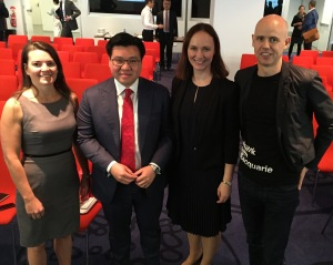 With Macquarie Bank panellists Dana Korn, Joanne Pickhaver and Ben Perham