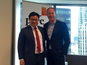 With Luke Sayers, CEO PwC Australia at the launch of Leading for Change