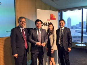 With Ken Woo and Sue Ann Khoo of PwC and Yung Ngo of Westpac