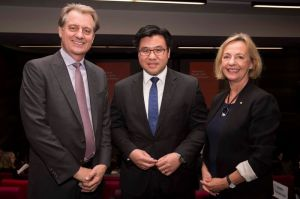 With University of Sydney Business School Dean Greg Whitwell and ... at the Kingsley Laffer Memorial Lecture