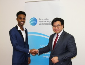 With Mohamed Semra, Student Prize winner
