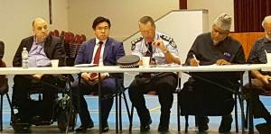 At the QPS-Muslim community engagement meeting, with QLD Anti-Discrimination Commissioner Kevin Cocks and QLD Police Commissioner Ian Stewart