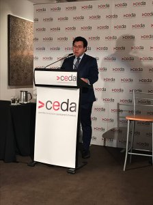Speaking at the CEDA Migration report launch