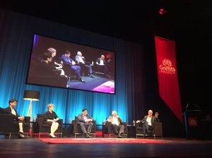 With Penelope Mathew, Shami Chakrabarti, Robert Manne and Luke Stegemann at the Griffith University Integrity 20 conference