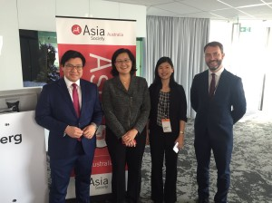 With Ming Long, Jette Radley and Philipp Ivanov at Asia Society blueprint event