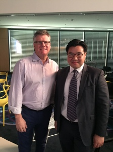 With EY Oceania's CEO and Managing Partner Tony Johnson at EY's leadership forum