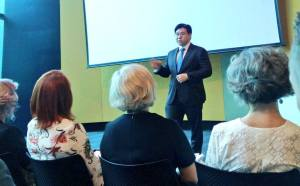 Speaking at the Multicultural Communities Council of SA Public Forum
