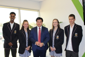 With student leaders from Maribyrnong College
