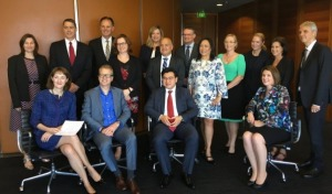 With the Managing Partners of the Law firms who have signed the Cultural Diversity pledge