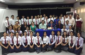 With students from the National University of Laos