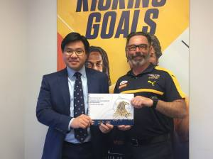 Meeting with Racism. It Stops With Me supporter West Coast Eagles