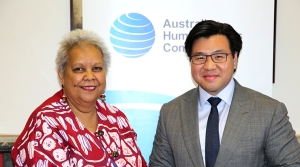 With Dr Jackie Huggins, Co-Chair of the National Congress of Australia's First Peoples